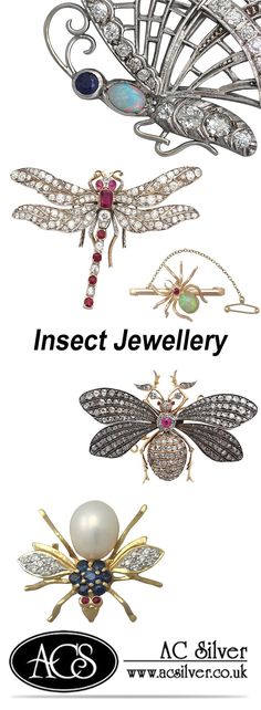 'Insect Jewellery' here at AC Silver.