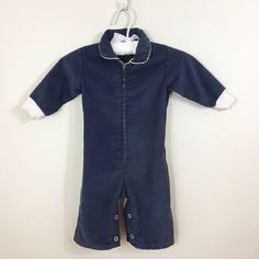 Vintage Retro Style Rocket Kids Girl Boy Short Sleeve Romper Jumpsuit 0-2T