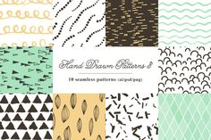 10 Seamless Hand Drawn Patterns v.3 by kloroform on Creative Market