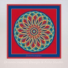 X-stitch pattern mandala Indian Summer - digital crossstitch embroidery pattern pdf - 189 x 189 cross stitches - 34 x 34 cm - 13,5 x 13,5 inches