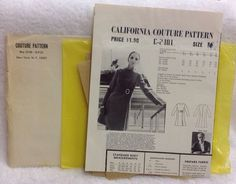 Vintage California COUTURE Dress Pattern C-2401 Size 14