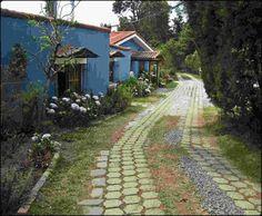Café del volcan, coffee house, road