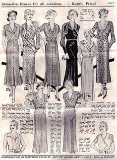 Brasch's Fashion Revue Spring & Summer 1932-33 Pg 9 by Gold Stars For Tulip, via Flickr