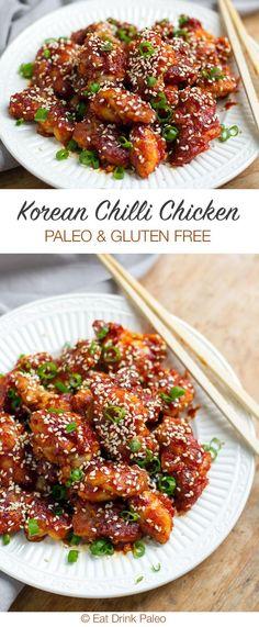 Korean Style Spicy Chicken (Paleo and Gluten-Free) | eatdrinkpaleo.com...
