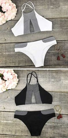 Shop stylish women's swimwear at FABKINI & find tankinis, bikinis, one-piece swimsuits, monokinis & more. Summer Suits, Summer Wear, Spring Summer Fashion, The Bikini, Halter Bikini, Bikini Swimsuit, Looks Style, Style Me, I Need Vitamin Sea