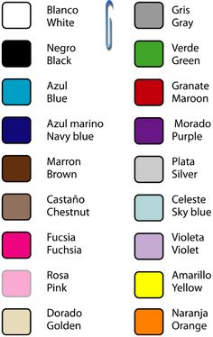 Colors in inglish!