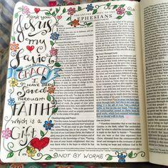documented faith, illustrated faith, bible art, scripture art, bible journaling, journaling bible from zennyart on Instagram