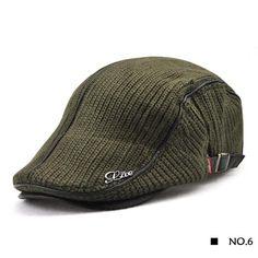 1d8c45ef New Wool knitting Berets Cap Adjustable Caps for Men Breathable Women Warm  Hats Flat Cotton Newsboy fashion