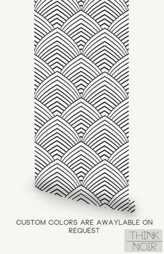 Removable Minimalistic Wallpaper / Self Adhesive Geometric   Etsy