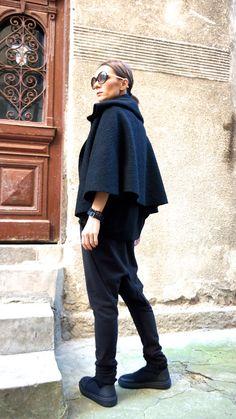 NEUE Herbst / Winter Wolle schwarz Bolero / von Aakasha auf Etsy