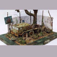 MAZ-537 By Li Wen Hao 1/35 scale From: Abandoned miniatures #maz #dio #diorama #dioramas #udk #usinadoskits #miniart #guerra #war #miniarte #instakit #instagram #plastimodelismo #hobby
