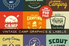 Vintage Camp Graphics by Ember Studio on Creative Market