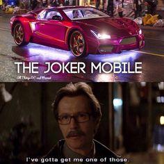 Me likey! #SuicideSquad #TheJoker #Joker #cars  /  #SLCC15 tickets: http://saltlakecomiccon.com/slcc-2015-tickets/?cc=Pinterest