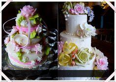 Wedding Cake Cut Out Cookie & Spring Flowers Wedding Cake bonbonerie.com in Cincinnati