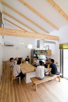 Modern Japanese Interior, Modern Interior, Home Interior Design, Kitchen Interior, Kitchen Office, Küchen Design, House Design, Modern Rustic Homes, Cafe House