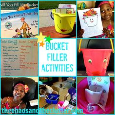 Activities for Have You Filled a Bucket Today books - discussion ideas, crafts, worksheets, printables