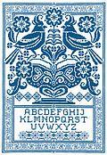 Sampler in Blue - Cross Stitch Pattern