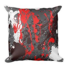 Pillow Pillow in modern abstract sprayed style