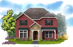 David Weekley Homes - Simone Elevation A 3,165 Sq. Ft. Viridian