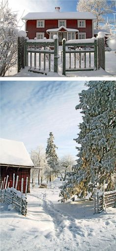 Winter in Åsens By, Småland Sweden.  Read more: www.asensby.se