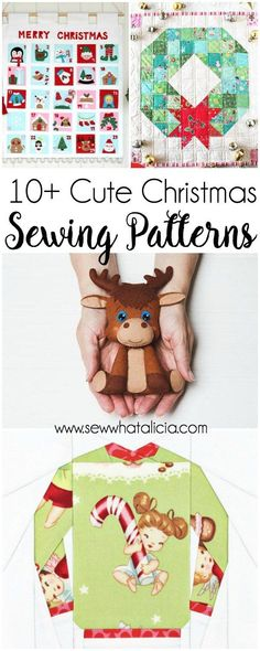 10+ Cute Christmas Sewing Patterns: If you love to sew and you love the holidays then these cute sewing patterns are perfect for you! Click through for a full list of cute projects to sew. #sewing #christmassewing #craft #create #diy #handmade| www.sewwha