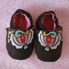 Baby Shoes Embroidered Ethnic Floral by AiyaHMPH