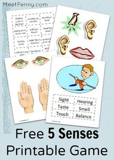 Learning the 5 Senses with a printable game
