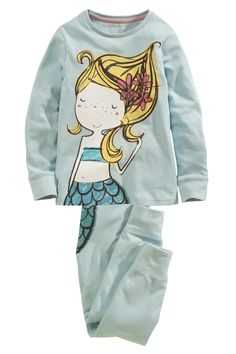 Buy Blue Mermaid Pyjamas Two Pack (12mths-8yrs) from the Next UK online shop