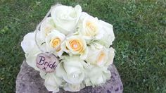 Cream and buttermilk roses handtied