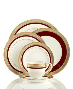 Alex would like these. Noritake Dinnerware, Ruby Coronet Collection