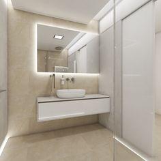 Moderní koupelna HALO - Pohled od toalety