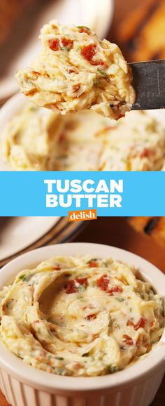 Tuscan Butter Is Straight Up Magical Tuscan Butter Is Straight Up Magical Delish Low Carb Recipes, New Recipes, Cooking Recipes, Favorite Recipes, Amazing Recipes, Flavored Butter, Homemade Butter, Whipped Butter, Salted Butter