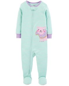 Crafted in soft cotton, these dog PJs get her ready for bed in one easy zip! Carter's cotton PJs are not flame resistant. But don't worry! They're designed with a snug and stretchy fit for safety and comfort.