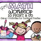 Math Workshop March provides you and your students with 10 math games and activities for the month. These are all print and go! The set up is in th...