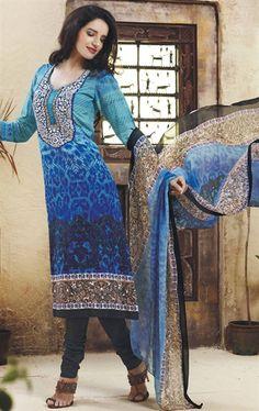 Picture of Appealing Blue Designer Salwar Suit