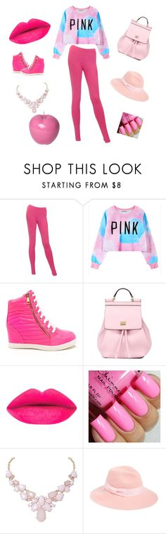"""""""pink"""" by bufiy ❤ liked on Polyvore featuring Chanel, Chicnova Fashion, Dolce&Gabbana, Humble Chic, August Hat, Bitossi, women's clothing, women, female and woman"""