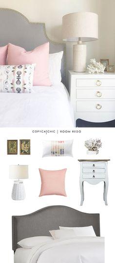 Copy Cat Chic Room Redo | Pink & Gray Bedroom