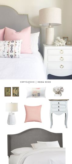 Copy Cat Chic: Copy Cat Chic Room Redo | Pink & Gray Bedroom by @lindseyboyer