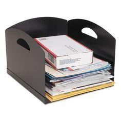 Big Stacker Inbox Desk Tray, Single Tier, 11 X 12 X 8, Black