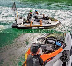 Sea-Doo Now Makes a Fishing Jetski With Dedicated Fish Cooler, GPS, and Fish Finder Jet Ski Fishing, Fishing Boats, Spear Fishing, Seadoo Jetski, Pedal Kayak, Jet Skies, Ski Boats, Fish Finder, Outboard Motors