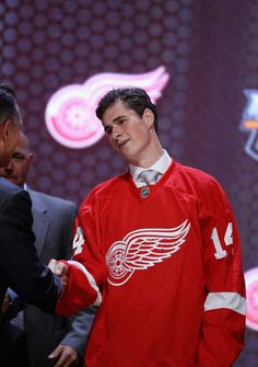 DYLAN LARKIN WAS DRAFTED BY THE DETROIT RED WINGS IN 2014