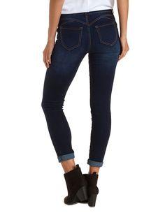 "Plus Size Dark Rinse Denim Refuge ""Push Up Legging"" Lifting Skinny Jeans by Refuge at Charlotte Russe – Size 16"