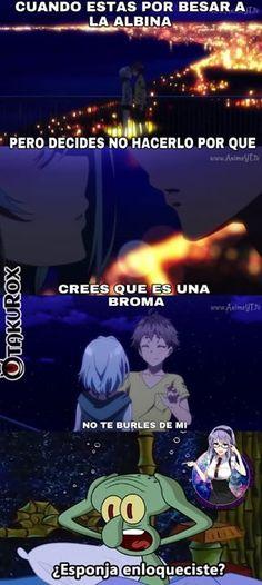 Rechazar una albina es pecado men un crimen Anime No Kami<--sigueme si crees que este men hizo mal xD #Kurokami . anime meme en español