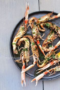 Grilled Langoustines with Lemon & Chili | Recipe: http://mylittleexpatkitchen.blogspot.nl/2015/11/grilled-langoustines-with-olive-oil.html