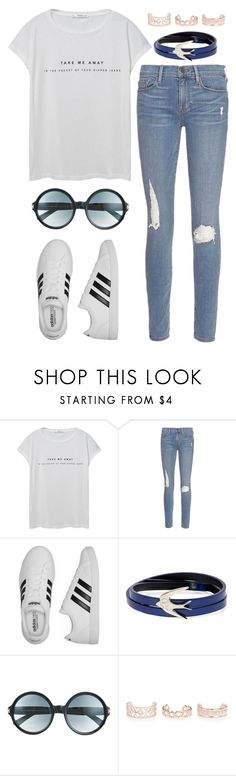 """Casual Friday"" by ubiquitous-merkaba ❤ liked on Polyvore featuring MANGO, Frame, adidas, McQ by Alexander McQueen, Tom Ford and New Look"
