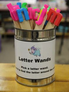 Letter wands to find items that start with that letter around the room  BALANCEDLITERACYDIET :: index :: Balanced Literacy Diet