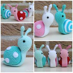 Amigurumi Stuffed Snails FREE Crochet Pattern