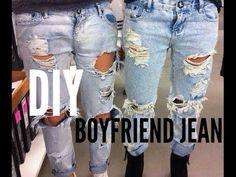DIY boyfriend jean