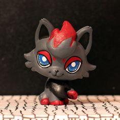 Zorua Pokemon Littlest Pet Shop custom by PiasLittleCustoms
