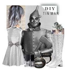 """Miss. TinMan"" by vveee ❤ liked on Polyvore featuring NARS Cosmetics, Gucci, Yves Saint Laurent, Markus Lupfer, Forever 21, JINsoon, In Your Dreams, halloweencostume and DIYHalloween"